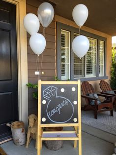 Engagement party chalkboard welcome sign