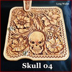 Rakuten: Three points of leather wallet long wallet set 深彫 り carving wallet scull bikies wallet long wallet- Shopping Japanese products from Japan