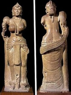 The Didarganj Yakshi is a fine specimen of Mauryan art. Almost 2000 years old, it stands five feet four inches and is carved out of a single stone. It is an exquisite carving and almost true to life. Government of India, has used her figure as a fine art ambassador and she has travelled to many countries.