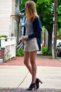 lace shorts & navy cardigan from @Liv - beautifully created