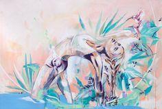 "Saatchi Art Artist Hannah Adamaszek; Painting, ""Wild Thing"" #art"