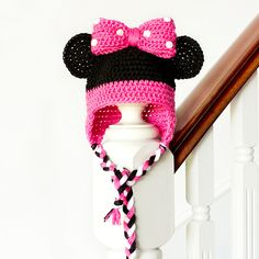 Craft Passions: Minnie Mouse inspired Baby Hat..# free # Crochet#pattern link here