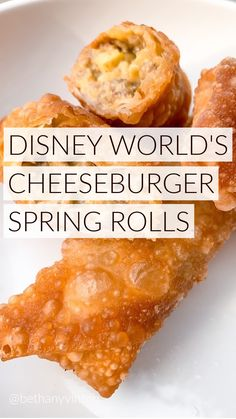 Egg Roll Recipes, Best Food Recipes, Disney Recipes, Disney Food, Yummy Appetizers, Appetizer Recipes, Savoury Finger Food, Spring Rolls, Football Food