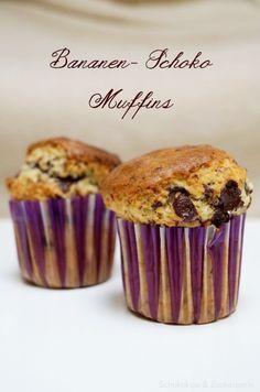 Bananen-Schoko-Muffins – Schokokuss und Zuckerperle