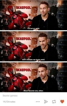 deadpool, Marvel, and funny tumblr posts image