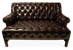 Custom Tufted Leather Settee on OneKingsLane.com $5,199.00