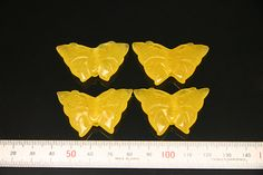 2pcs natural jade carved butterfly by 3yes on Etsy