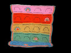Childs Rainbow Afghan by amydscrochet on Etsy, $30.00