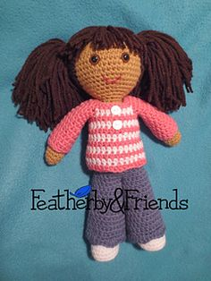 Mia - Big Sister Doll in Cozy Outfit - Crochet Pattern by Alicia Moore of Featherby & Friends