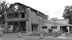 Brooks Residence - exterior view of fire damage - RPA (Richard Pedranti Architect)