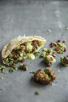 Super Green Falafel With Turmeric Tahini Sauce