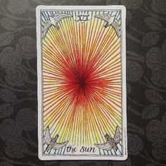 The Sun of the Wild Unknown tarot card meaning and description! http://happyfishtarot.com/blog/the-sun-wild-unknown-tarot-card-meanings/