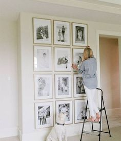 floor-to-ceiling gallery wall.