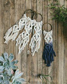 Macrame keychain lanyard - Macrame keyring - purse pull - zipper charm pull - boho chic decor - modern macrame - Bohemian accessories