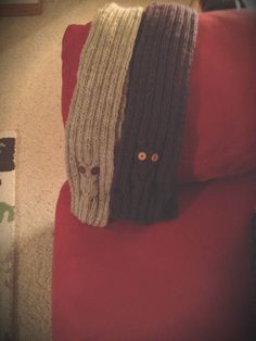 Knitted owl scarfs