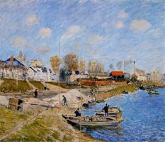 Alfred Sisley - Sand on the Quayside, Port Marly, 1875
