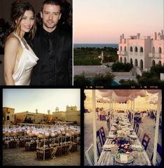 Justin Timberlake Wedding Decor | Justin Timberlake & Jessica Beil got married at the Borgo Egnazia resort in the southern Italian city of Fasano. |