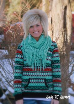 Sass N' Stones - Knit Infinity Fringe Scarf, $19.95 (http://sass-n--stones.mybigcommerce.com/knit-infinity-fringe-scarf/)
