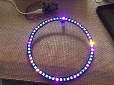 Picture of Wol Clock ESP8266-12E + 60 LED WS2812B analogue digital clock