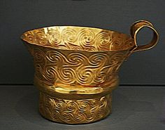 Gold Myceanean cup Archeological Museum Athens