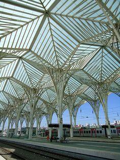Lisbon Orient Station, Lisbon, Portugal by Santiago Calatrava