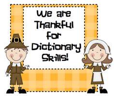Thanksgving dictionary skills