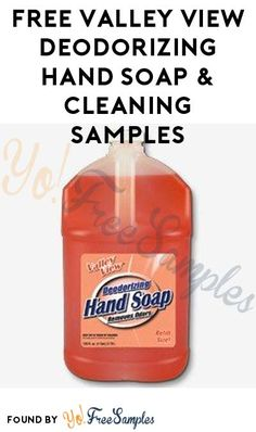 FREE Valley View Deodorizing Hand Soap & Cleaning Samples (Company Name Required)