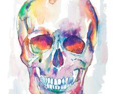 Heart watercolor painting watercolor print by EbbAndFlowWatercolor
