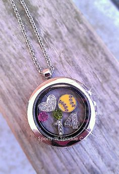 Customized Floating Locket on Chain Necklace by SportsandSparkleCo, $24.00