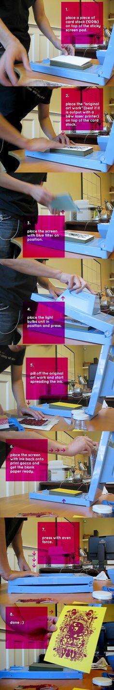 Print Gocco - 8 steps