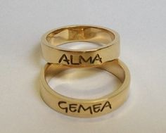 Wedding Ring with message