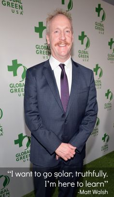 """I want to go solar, truthfully.  I'm here to learn"" - Matt Walsh on the green carpet at Global Green USA's 11th annual Pre-Oscar Party."