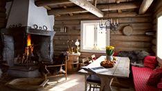 Fikk seg drømmehytte etter stor egeninnsats - Hytteliv Cabin Interiors, Cottage, Home Decor, Beige, Decoration Home, Room Decor, Cottages, Cabin, Home Interior Design
