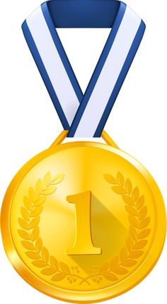 Gold Medal With Red Ribbon Png Clipart Image Ribbony