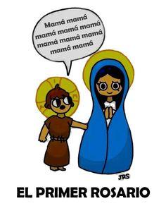 Esta vale para retuit: el primer #Rosario de la historia, Jesús pidiéndole algo a su mamá