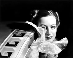 """Joan Crawford by George Hurrell, publicity portrait for """"Chained"""", 1934."""