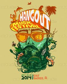 Hangout Music Festival Poster by cucubaou on CreativeAllies.com