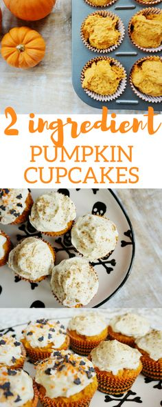 "I love to bake, but I haven't really been making much time for it these days. So, anything with ""quick"" or ""easy"" in the recipe, I'm sold. And if the recipe only calls for 2 ingredients? Ummm, now THAT is my kind of sweet. Full disclosure: I've made these easy pumpkin cupcakes twice this week. (One batch for me, one for the baby.) Actually, the ..."