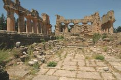 The interior of the ancient temple of Zeus, Cyrene Libya.