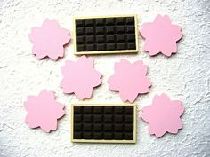 WHOLESALE Kawaii Miniatures 8 Chocolate Bars Flowers by DecoSweets, $4.00