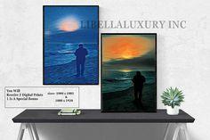 #seaside  #Romance Love Art print digital download printable #walldecor art print abstract painting home decor design contemporary #artwork