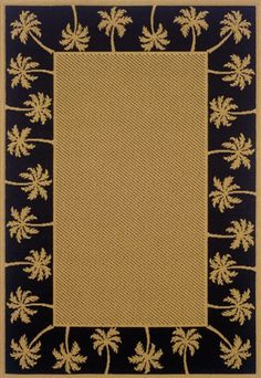 "7'3"" x 10'6"" Rectangular Oscar Isberian Rugs Area Rug Beige/Black Color Machine Made Egypt ""Lanai Collection"" - http://largearearugs.hzhtlawyer.com/73-x-106-rectangular-oscar-isberian-rugs-area-rug-beigeblack-color-machine-made-egypt-lanai-collection/"