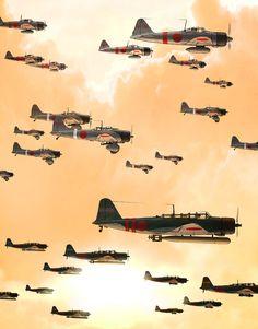 1st wave headed for Pearl Harbor, Hawaii ,Dec. 7,1941