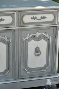 Painted-Thomasville-Hutch-By Vintage Charm Restored