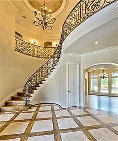 Love the wrap around stairs w railings not floors