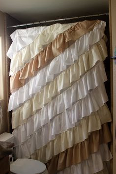 OMGoodness!!!! Awesome!!!! Angled Ruffled Curtain Panel.