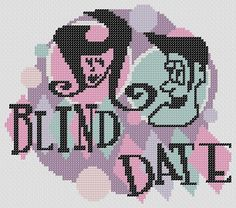 BLIND DATE Retro Signage PDF Cross Stitch by RetroLOOMINOTIONS, £2.50