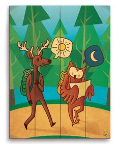 Forest Friends Adventure Wall Art by Image Canvas #zulily #zulilyfinds