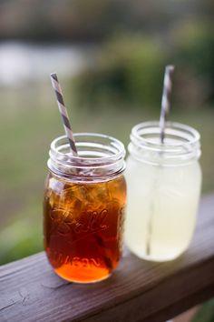 mason jar lemonade + sweet tea   Chris Isham #wedding