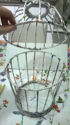 Dopo gg di lavoro, finalmente sono riuscita a finire di realizzare la gabbietta decorativa... Logicamnt è ancora da verniciare e decorare, ma intanto vi posto il tutorial per la sua realizzazione AGGIORNAMENTI: ECCOLA FINITA!!! A ME PIACE UN CASIO